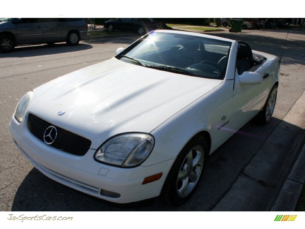 1998 mercedes benz slk 230 kompressor roadster in polar white photo 22 078478 jax sports. Black Bedroom Furniture Sets. Home Design Ideas