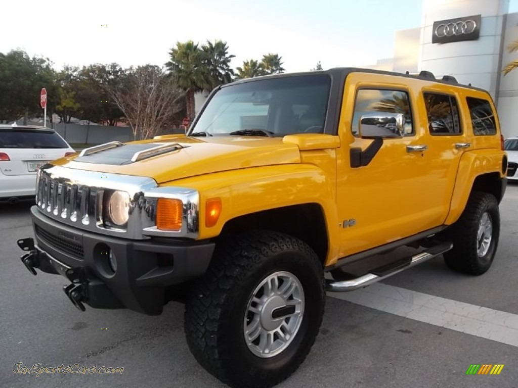 2006 hummer h3 in yellow 141703 jax sports cars cars for sale in florida. Black Bedroom Furniture Sets. Home Design Ideas