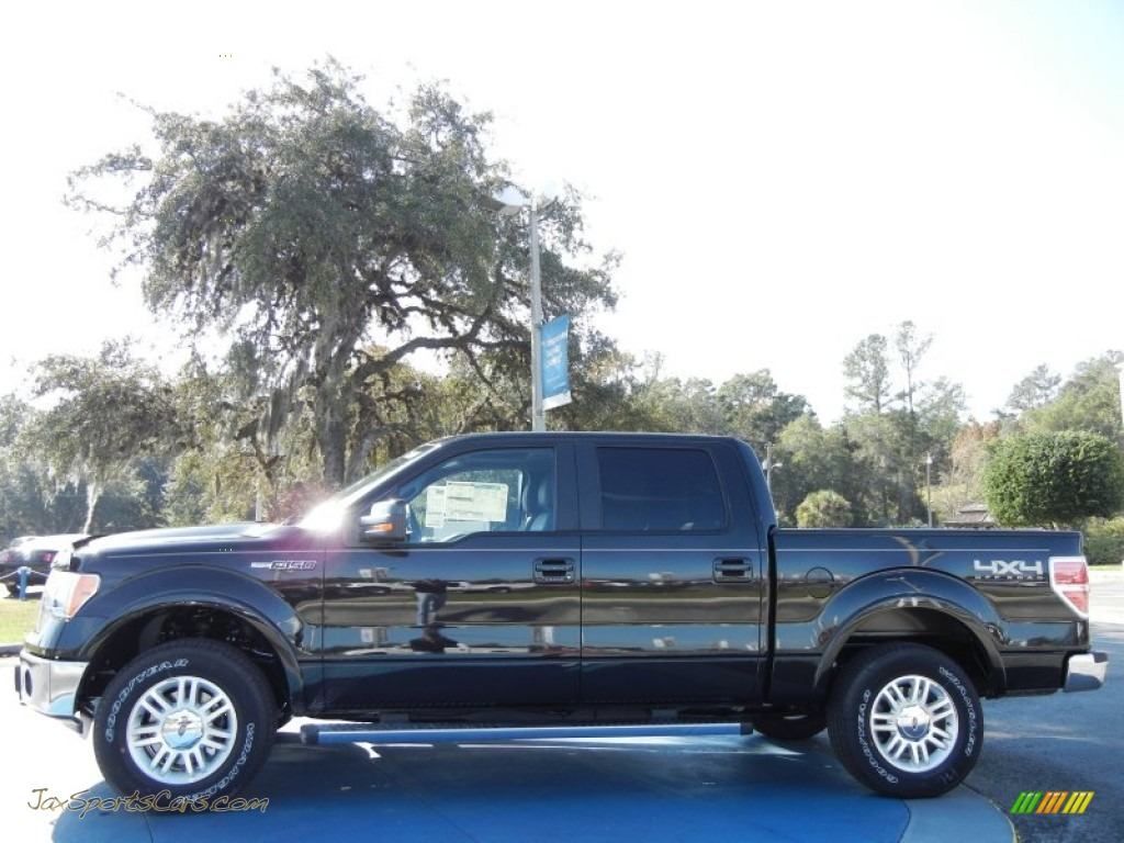 2012 ford f150 lariat supercrew 4x4 in tuxedo black metallic photo 2 a10162 jax sports cars. Black Bedroom Furniture Sets. Home Design Ideas