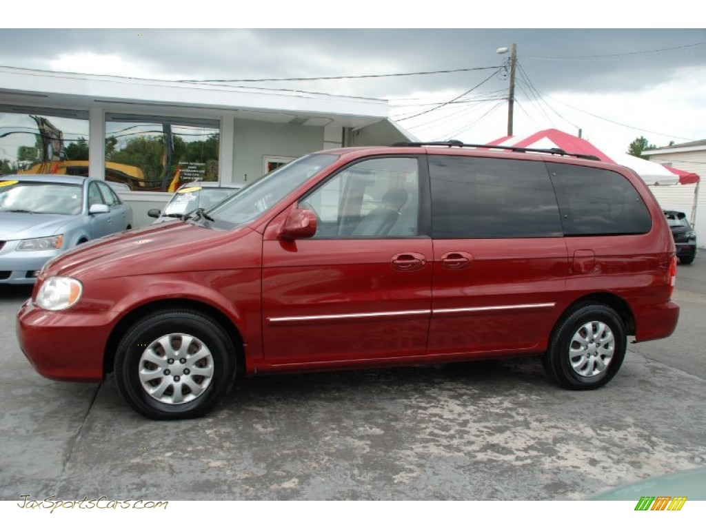 2005 kia sedona lx in ruby red metallic 703151 jax sports cars cars for sale in florida. Black Bedroom Furniture Sets. Home Design Ideas