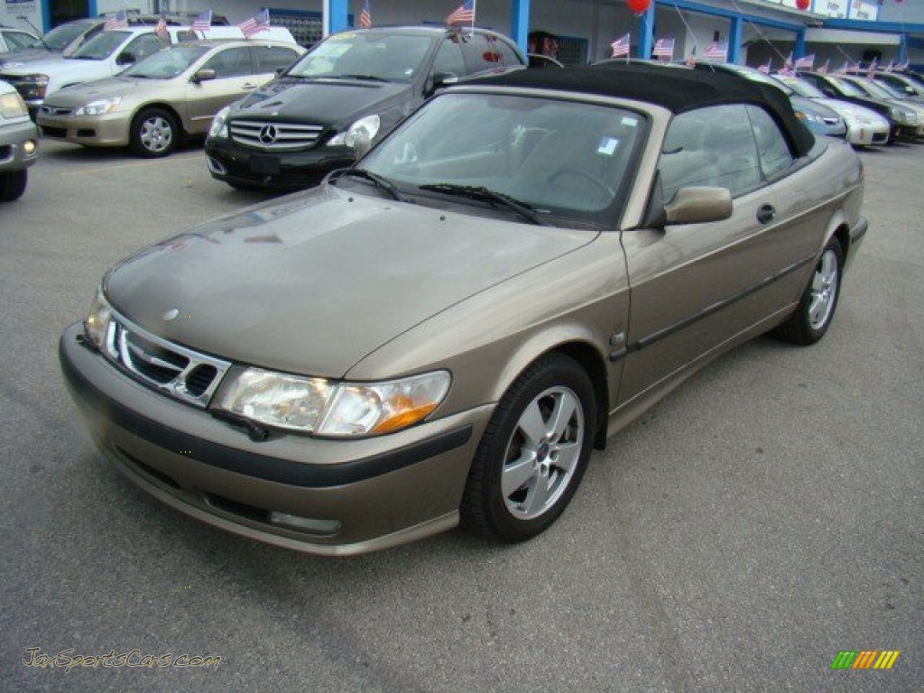 2003 saab 9 3 se convertible in hazelnut metallic 010569 jax sports cars cars for sale in. Black Bedroom Furniture Sets. Home Design Ideas
