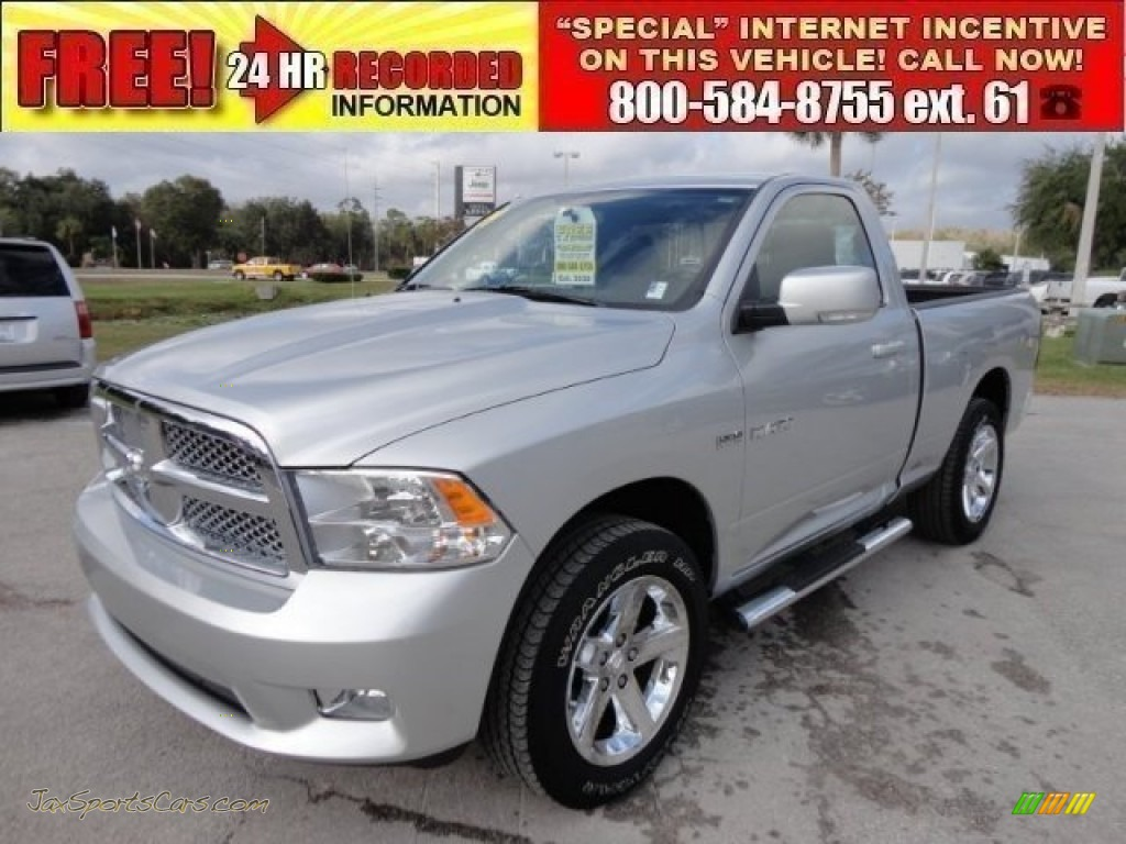 2009 Ram 1500 Sport Regular Cab 4x4 - Bright Silver Metallic / Dark