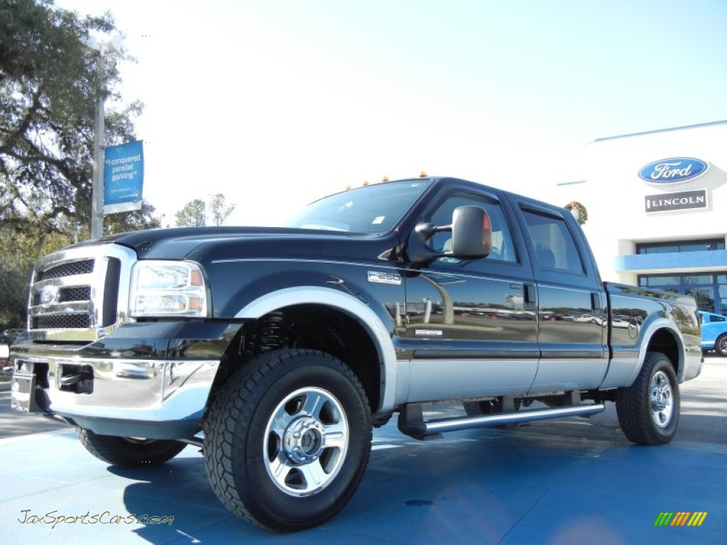 Black / Medium Flint Ford F250 Super Duty Lariat Crew Cab 4x4