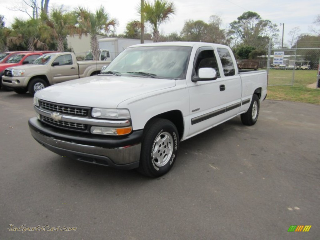 2002 chevrolet silverado 1500 ls extended cab in summit white 139429 jax sports cars cars. Black Bedroom Furniture Sets. Home Design Ideas
