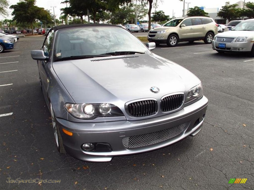 2004 bmw 3 series 330i convertible in silver grey metallic j96322 jax sports cars cars for. Black Bedroom Furniture Sets. Home Design Ideas