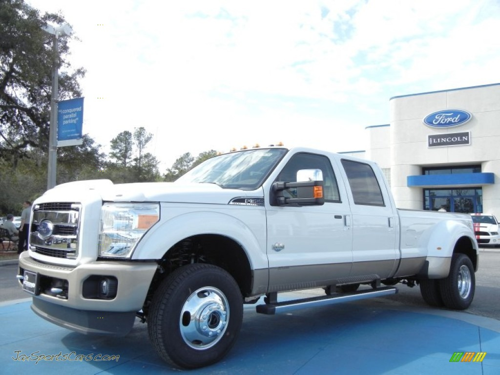 2012 ford f350 super duty king ranch crew cab 4x4 dually in white platinum metallic tri coat. Black Bedroom Furniture Sets. Home Design Ideas