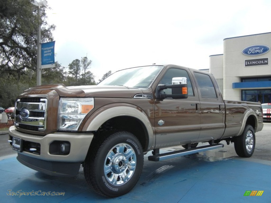2012 ford f350 super duty king ranch crew cab 4x4 in golden bronze metallic b37351 jax. Black Bedroom Furniture Sets. Home Design Ideas