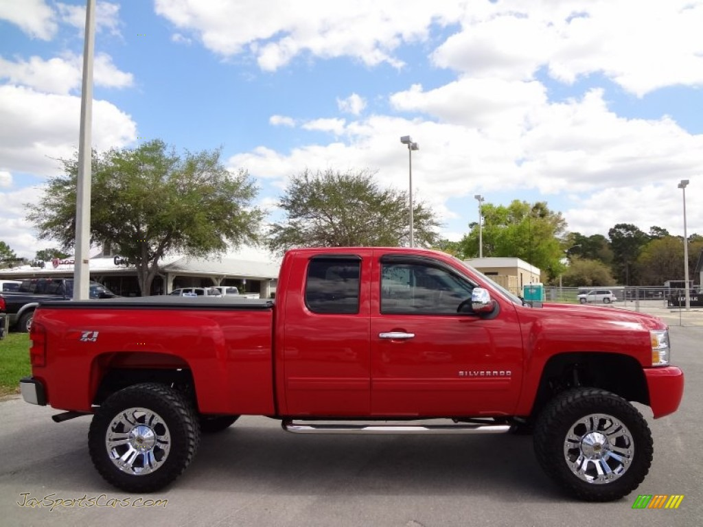 2010 chevrolet silverado 1500 lt extended cab 4x4 in victory red photo 9 214586 jax sports. Black Bedroom Furniture Sets. Home Design Ideas