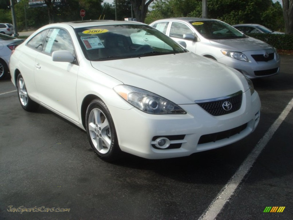 2007 Toyota Solara Sle V6 Coupe In Blizzard White Pearl 127087 Jax Sports Cars Cars For