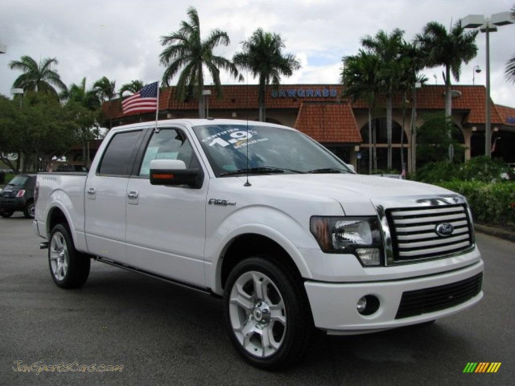 White platinum metallic tri coat steel gray ford f150 limited supercrew 4x4
