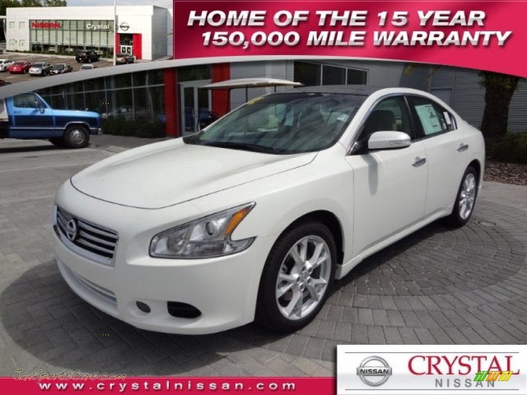 2012 nissan maxima 35 sv in winter frost white 837240 jax winter frost white cafe latte nissan maxima 35 sv vanachro Images
