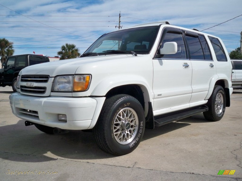 2000 isuzu trooper limited 4x4 in alpine white j15493 jax sports cars cars for sale in florida. Black Bedroom Furniture Sets. Home Design Ideas