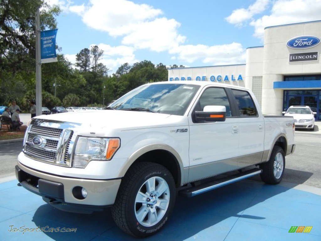 2012 ford f150 lariat supercrew 4x4 in oxford white b45294 jax sports cars cars for sale. Black Bedroom Furniture Sets. Home Design Ideas