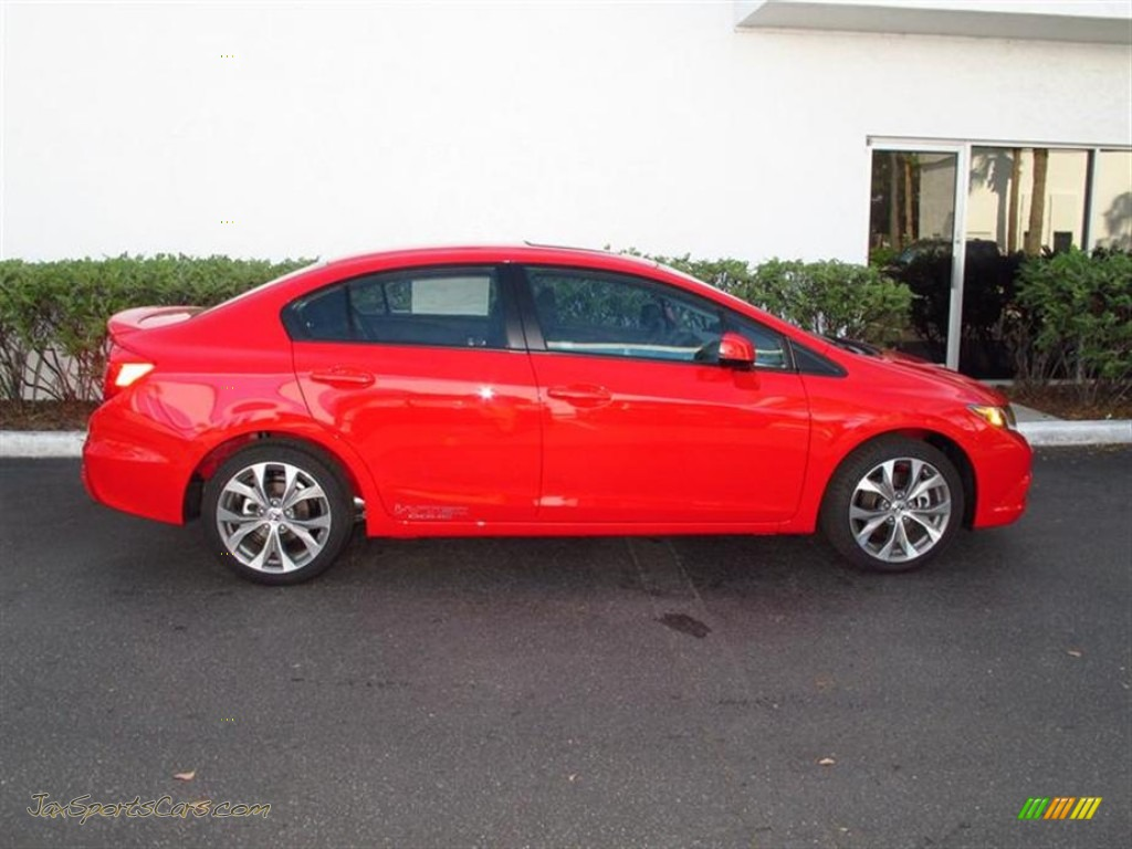 2012 Honda Civic Si Sedan in Rallye Red photo 2  702437  Jax