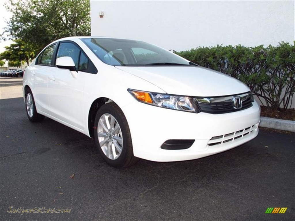 2012 honda civic ex l sedan in taffeta white photo 2 044211 jax sports cars cars for sale. Black Bedroom Furniture Sets. Home Design Ideas