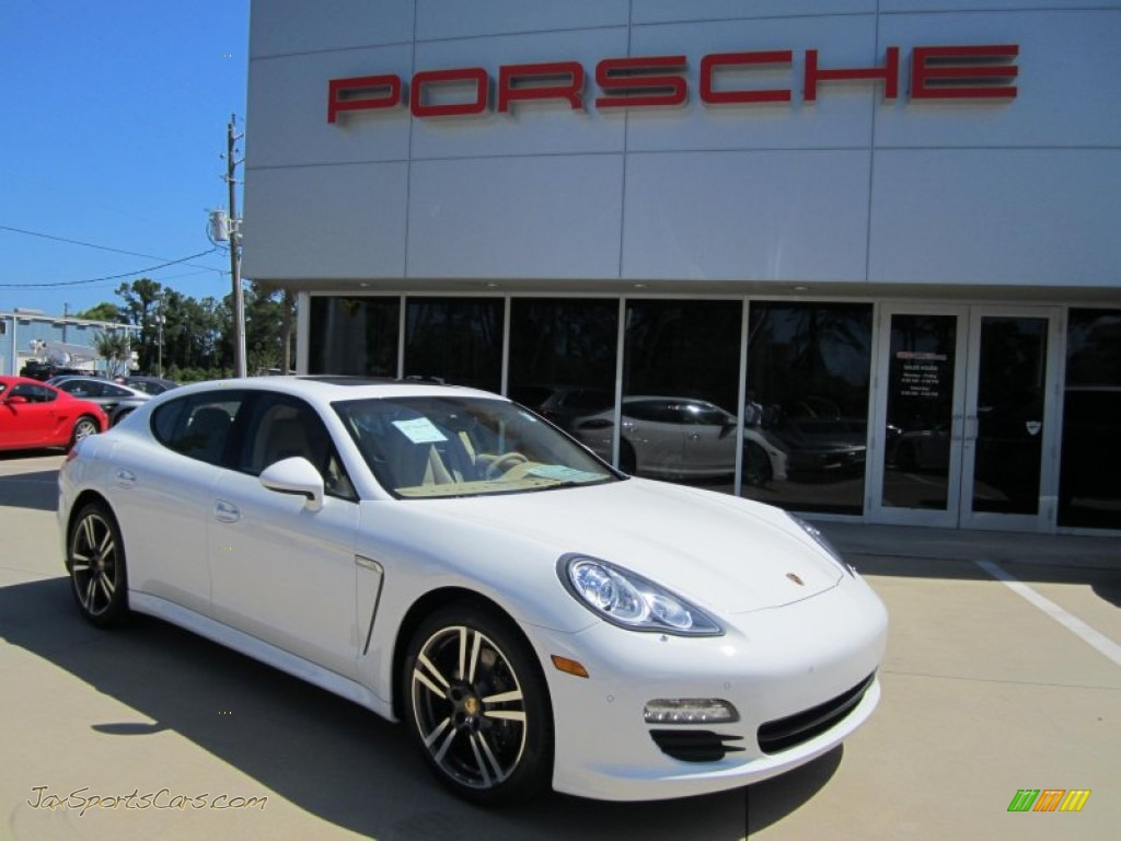 2012 porsche panamera v6 in carrara white 070789 jax sports cars cars for sale in florida. Black Bedroom Furniture Sets. Home Design Ideas