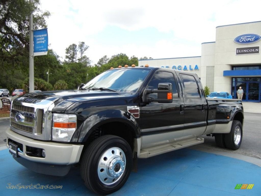 Black chaparral leather ford f450 super duty king ranch crew cab 4x4 dually