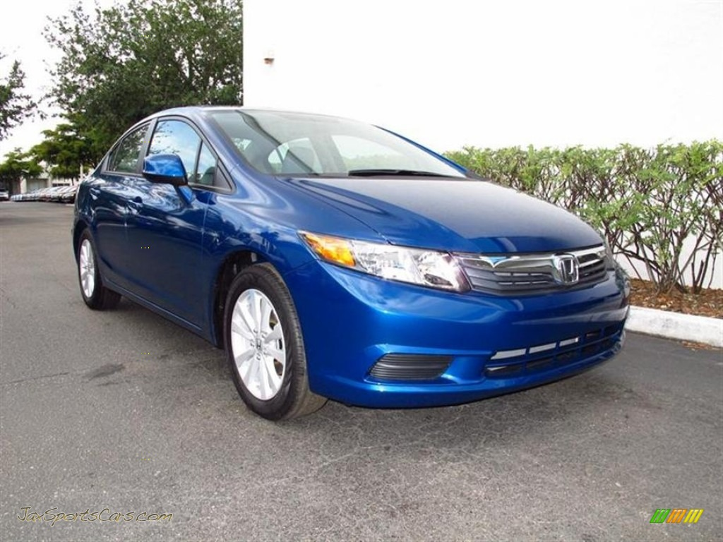 2012 honda civic ex l sedan in dyno blue pearl 557454 jax sports cars cars for sale in florida. Black Bedroom Furniture Sets. Home Design Ideas