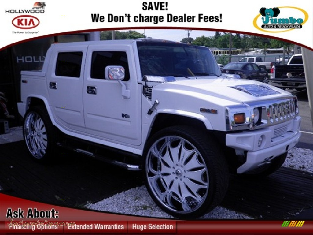 2005 hummer h2 sut in white 113891 jax sports cars cars for sale in florida. Black Bedroom Furniture Sets. Home Design Ideas