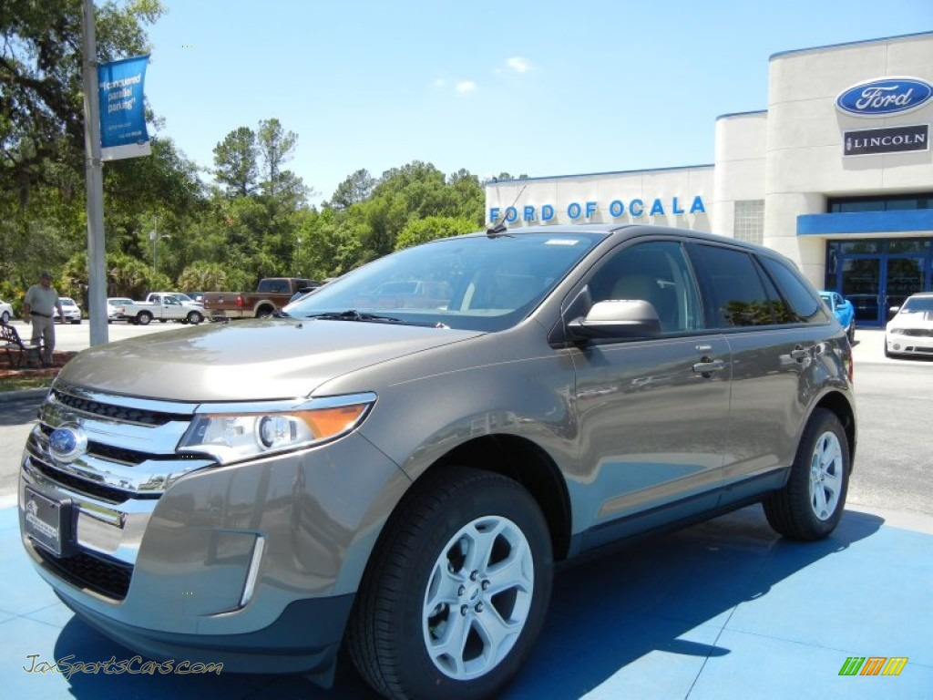 2013 Ford Edge Sel In Mineral Gray Metallic A35497 Jax