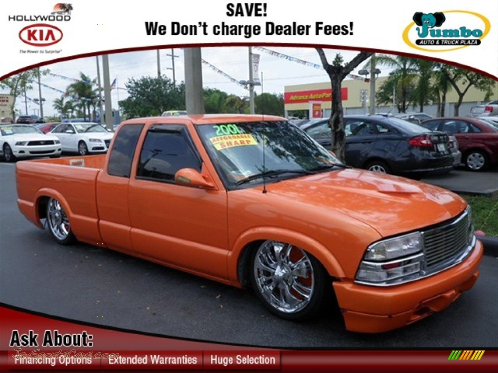 Custom orange medium gray chevrolet s10 extended cab