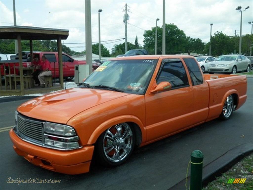 2001 s10 extended cab custom orange medium gray photo 5