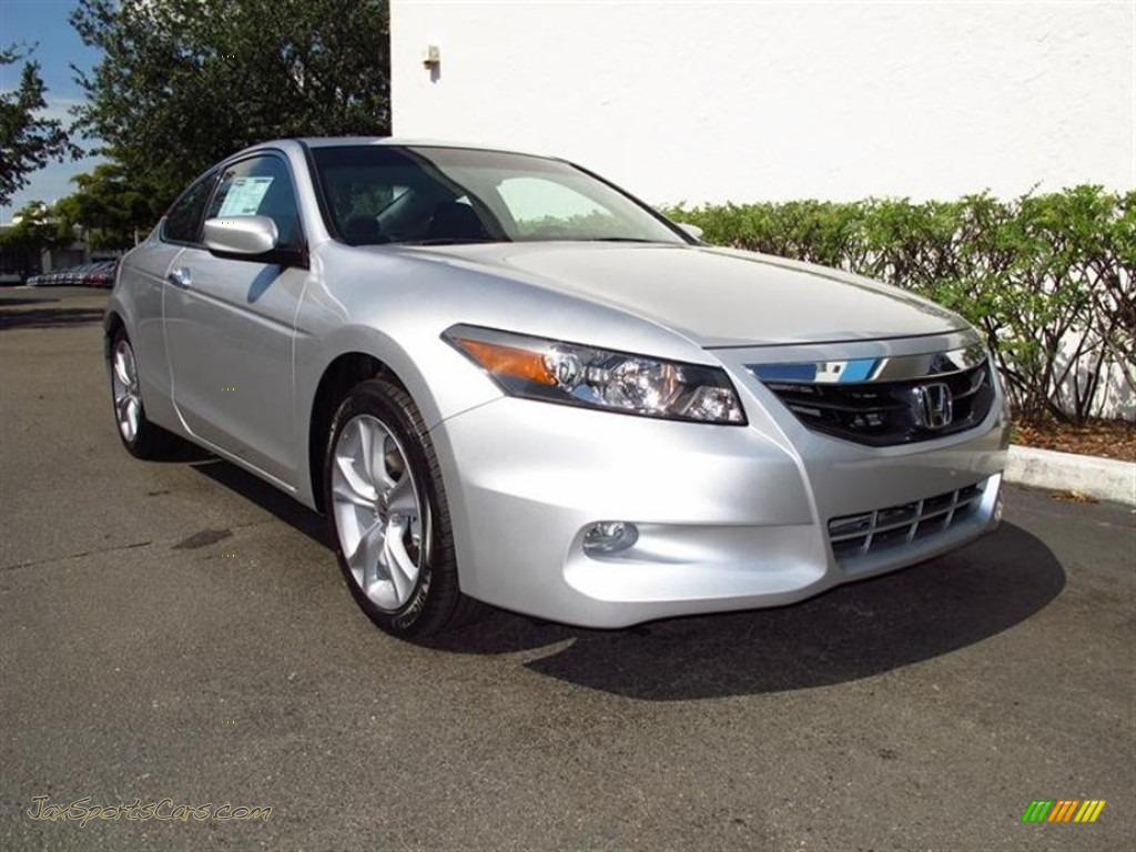 2012 honda accord ex l v6 coupe in alabaster silver metallic 008677 jax sports cars cars. Black Bedroom Furniture Sets. Home Design Ideas