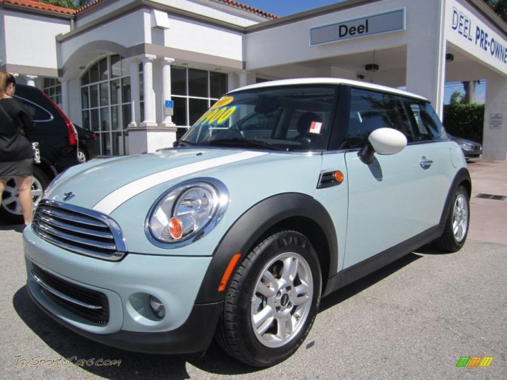 2011 mini cooper hardtop in ice blue 253089 jax sports cars cars for sale in florida. Black Bedroom Furniture Sets. Home Design Ideas
