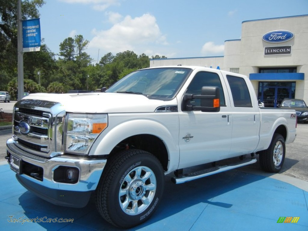 2012 ford f250 super duty lariat crew cab 4x4 in white platinum metallic tri coat c24327 jax. Black Bedroom Furniture Sets. Home Design Ideas