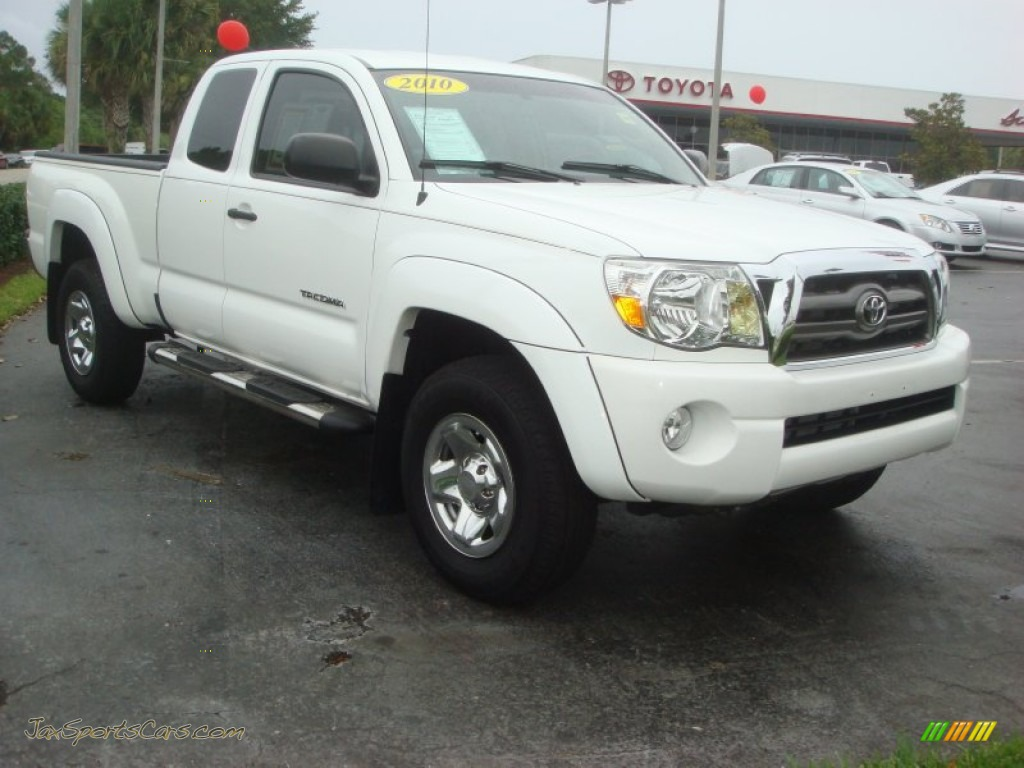 2010 toyota tacoma v6 prerunner access cab in super white photo 11 678850 jax sports cars. Black Bedroom Furniture Sets. Home Design Ideas