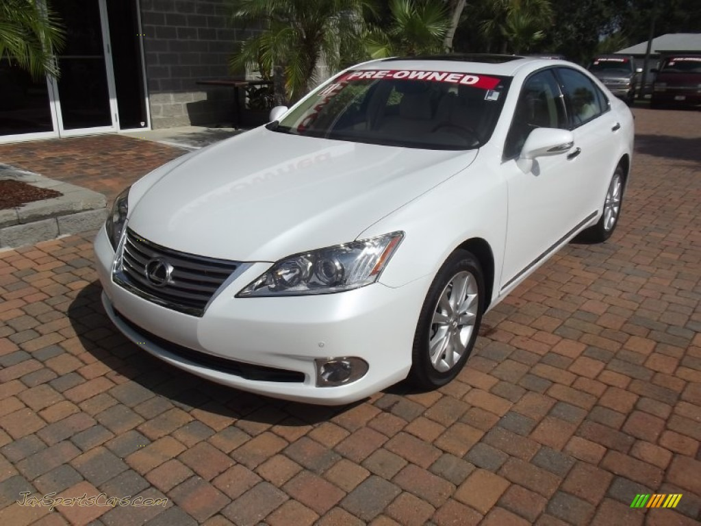 2011 lexus es 350 in starfire white pearl 439768 jax sports cars cars for sale in florida. Black Bedroom Furniture Sets. Home Design Ideas
