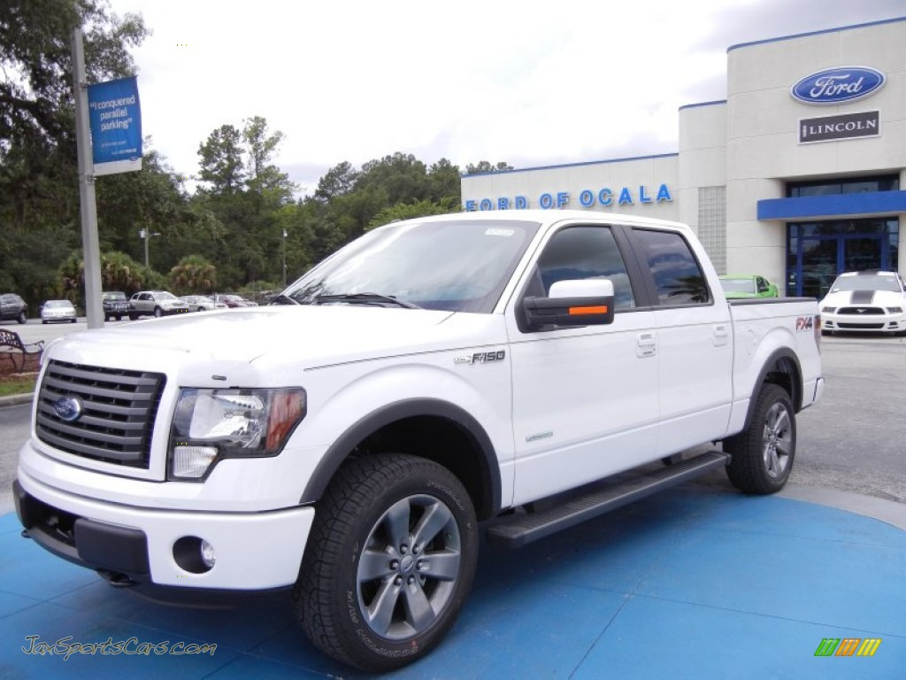 2012 ford f150 fx4 supercrew 4x4 in oxford white e03239 jax sports cars cars for sale in. Black Bedroom Furniture Sets. Home Design Ideas