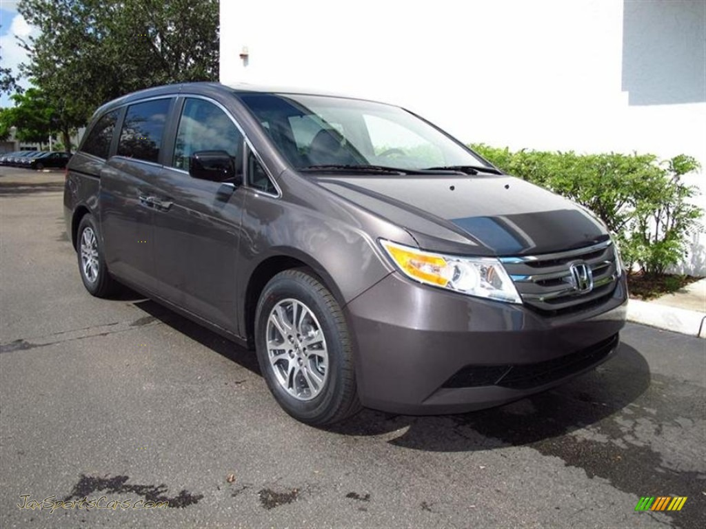 2012 Honda Odyssey Ex L In Smoky Topaz Metallic Photo 10