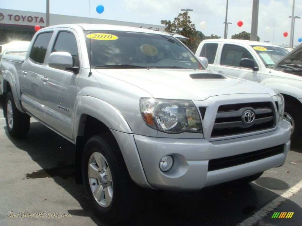 2010 toyota tacoma v6 sr5 trd sport double cab 4x4 in silver streak mica 044728 jax sports. Black Bedroom Furniture Sets. Home Design Ideas