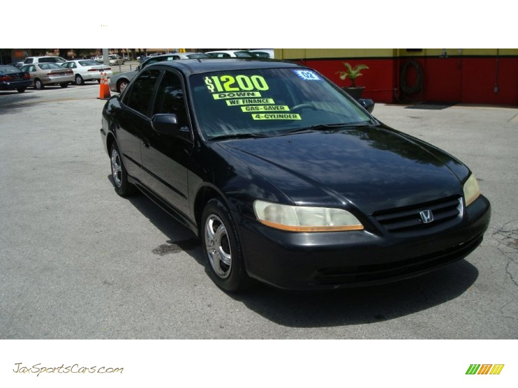 Nighthawk Black Pearl / Quartz Gray Honda Accord LX Sedan