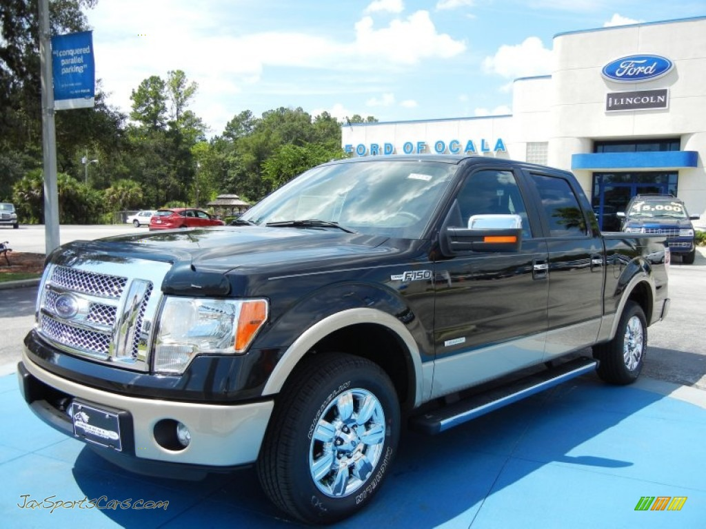 2012 ford f150 lariat supercrew in tuxedo black metallic c70995 jax sports cars cars for. Black Bedroom Furniture Sets. Home Design Ideas