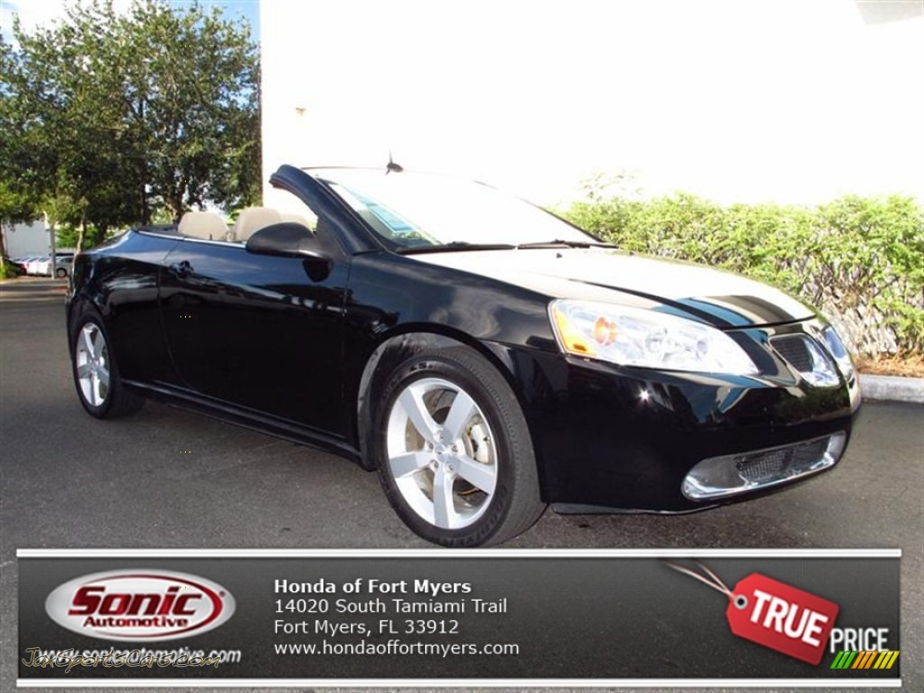 2008 Pontiac G6 Gt Convertible In Black 117268 Jax