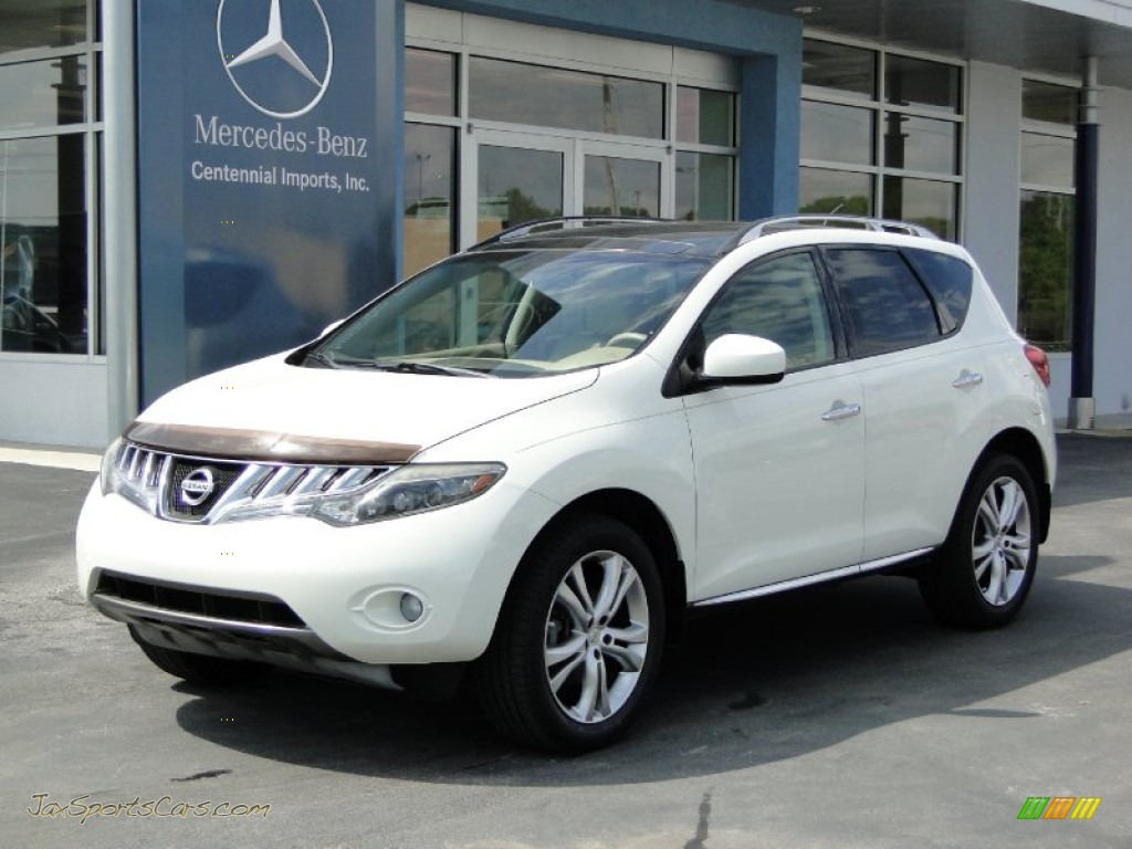 2009 nissan murano le awd in glacier pearl 136119 jax sports cars cars for sale in florida. Black Bedroom Furniture Sets. Home Design Ideas
