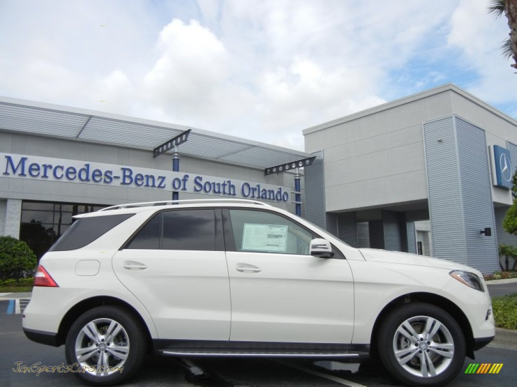 2013 mercedes benz ml 350 4matic in arctic white 114946 jax sports cars cars for sale in. Black Bedroom Furniture Sets. Home Design Ideas