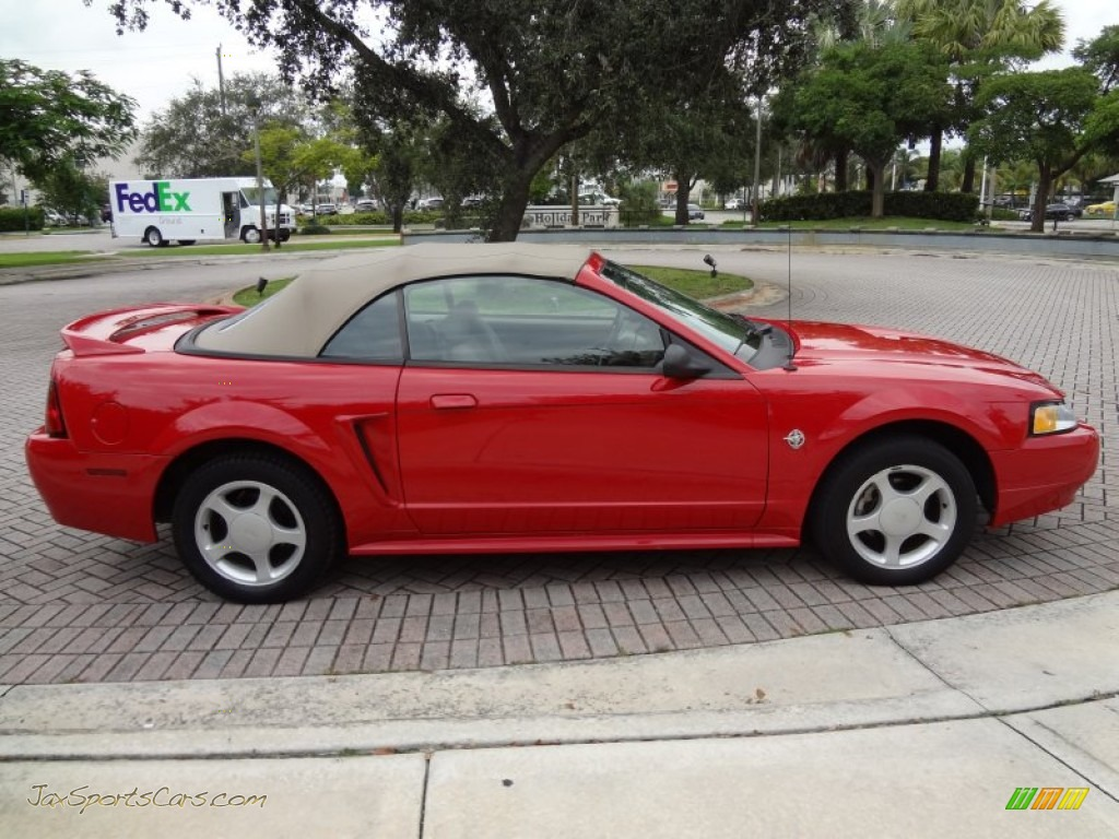 1999 Ford Mustang Gt Convertible In Rio Red Photo 4