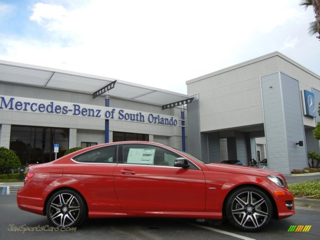 2013 Mercedes Benz C 250 Coupe In Mars Red Photo 5