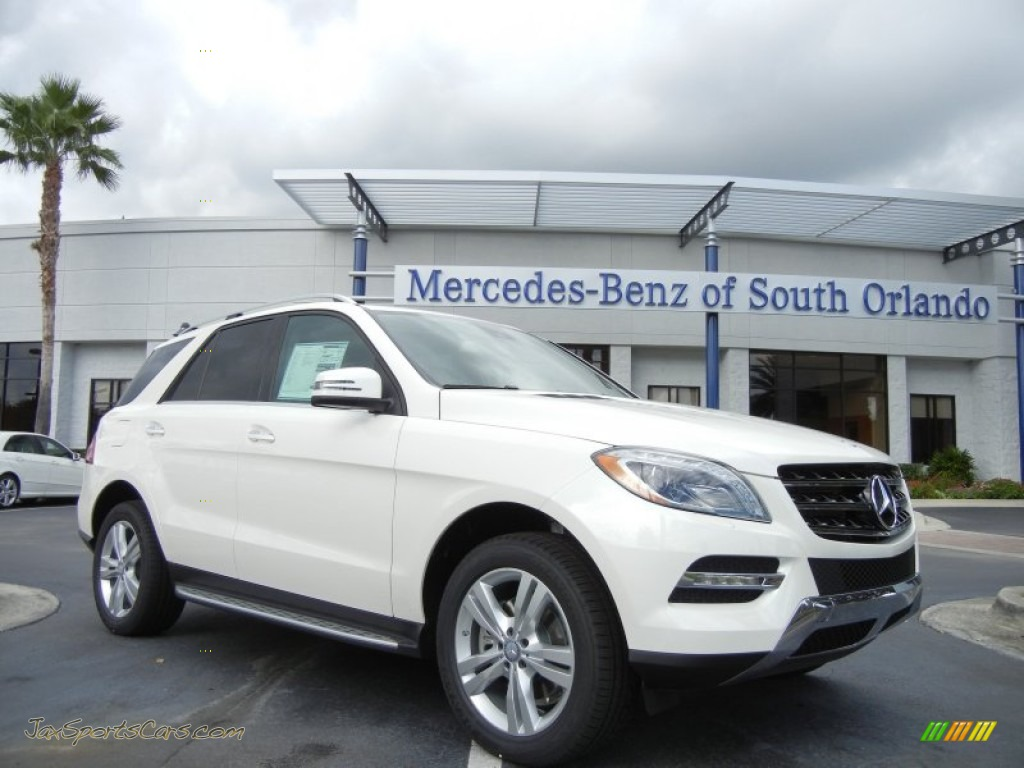 2013 mercedes benz ml 350 4matic in diamond white metallic 132460 jax sports cars cars for. Black Bedroom Furniture Sets. Home Design Ideas