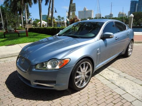 Azure Blue Metallic 2009 Jaguar XF Premium Luxury
