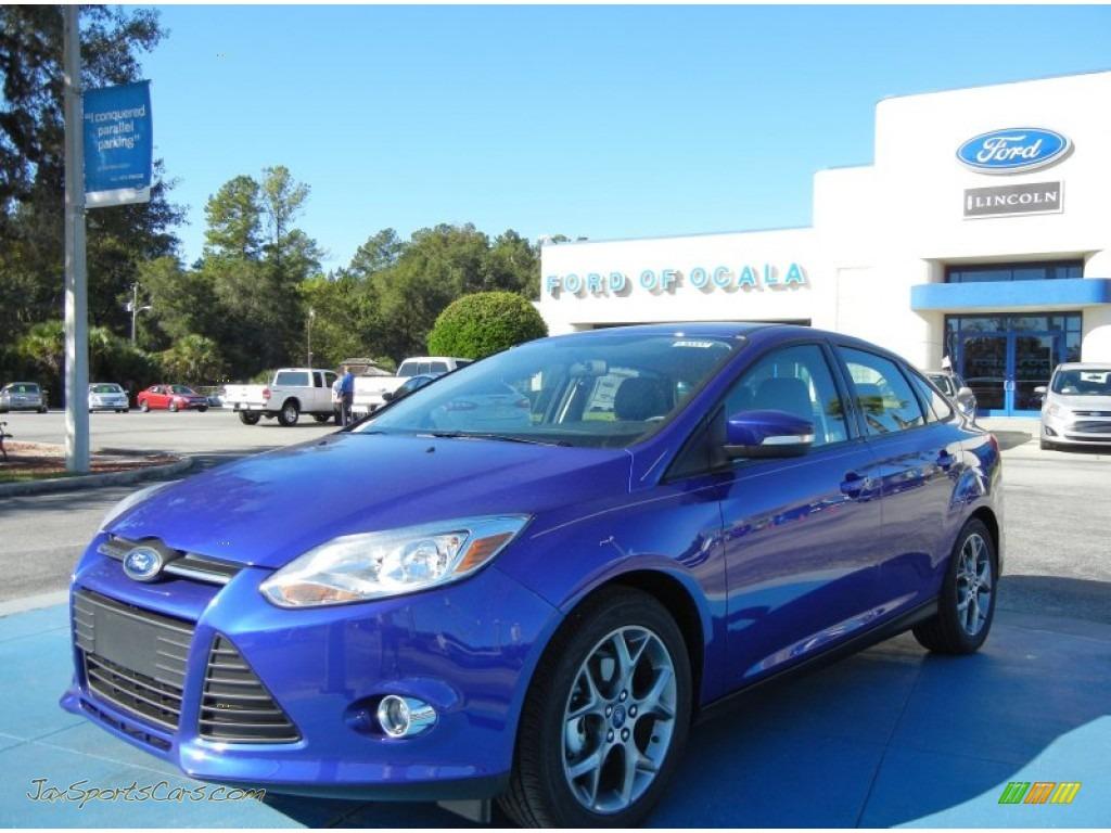 2013 ford focus se sedan in performance blue 136355 jax sports cars cars for sale in florida. Black Bedroom Furniture Sets. Home Design Ideas