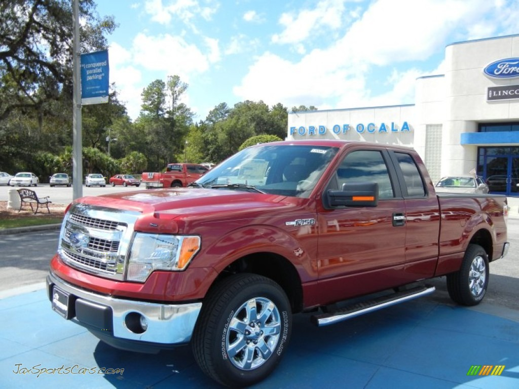 2013 ford f150 xlt supercab in ruby red metallic d20704 jax sports cars cars for sale in