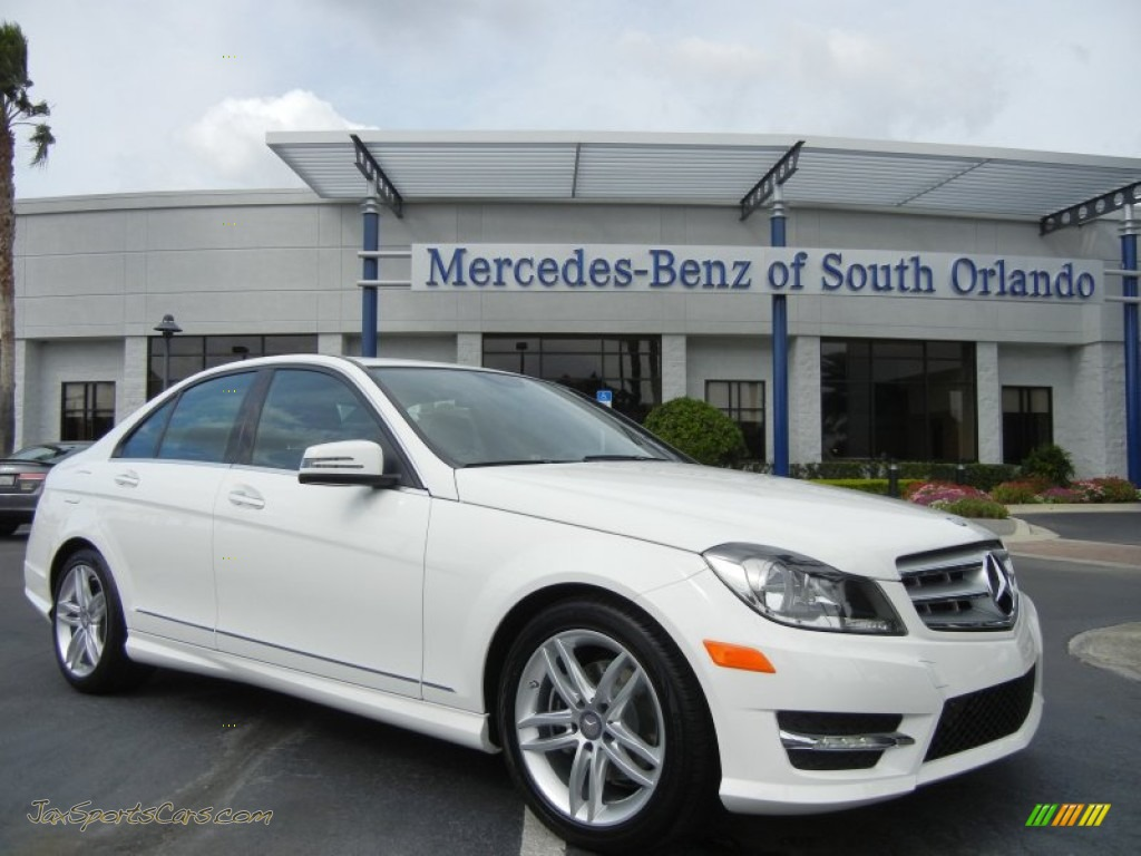 2013 mercedes benz c 250 sport in polar white 255579 for Mercedes benz of south orlando orlando fl 32839