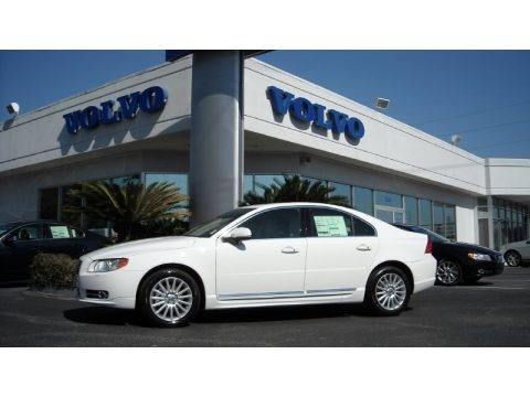 Ice White 2013 Volvo S80 3.2