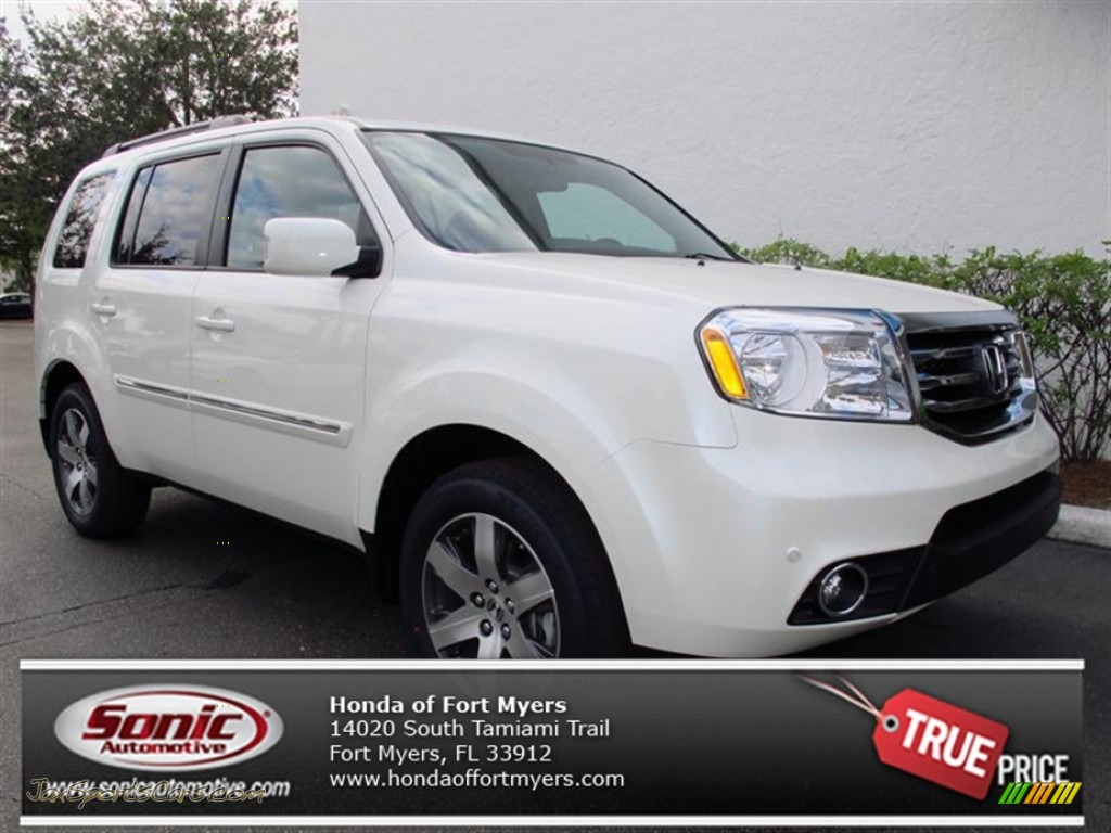 2013 honda pilot touring in white diamond pearl 011002 jax sports cars cars for sale in. Black Bedroom Furniture Sets. Home Design Ideas