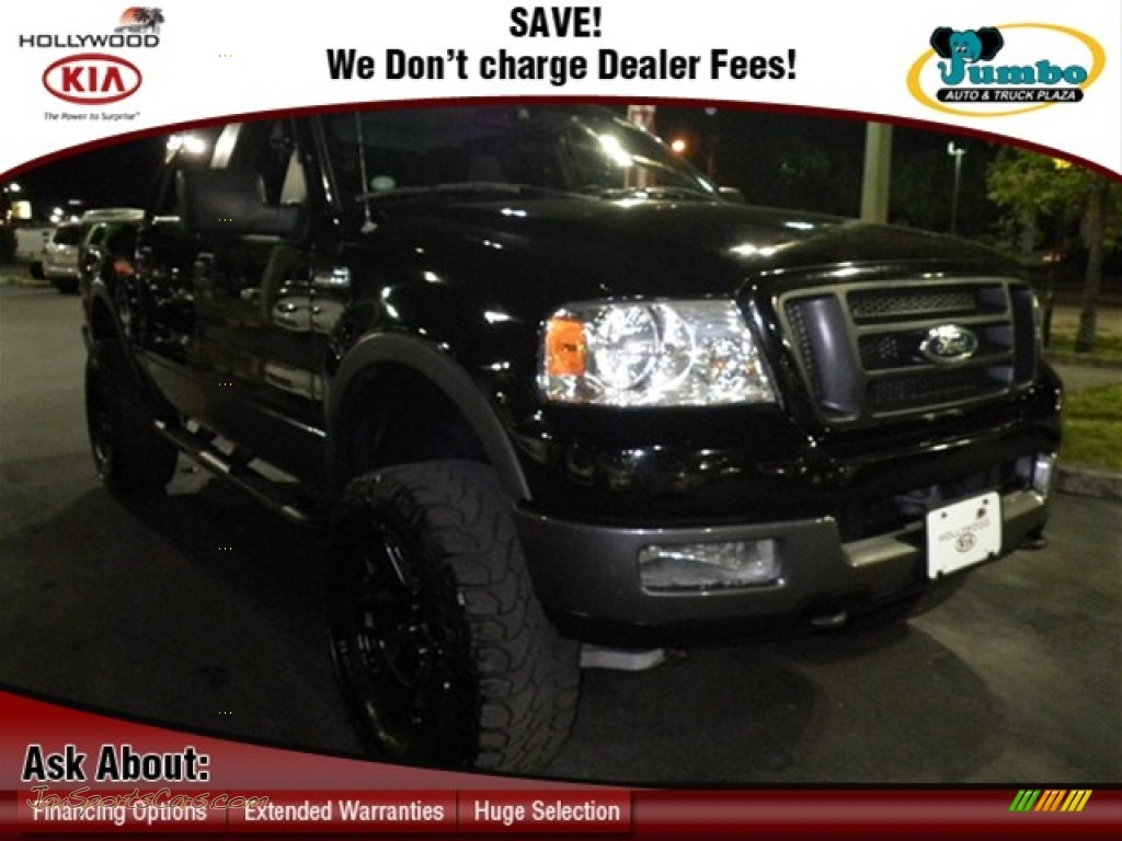 2005 f150 fx4 supercrew 4x4 black black photo 1