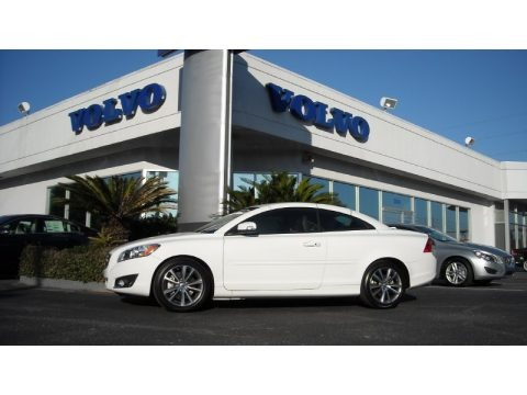 Ice White 2013 Volvo C70 T5